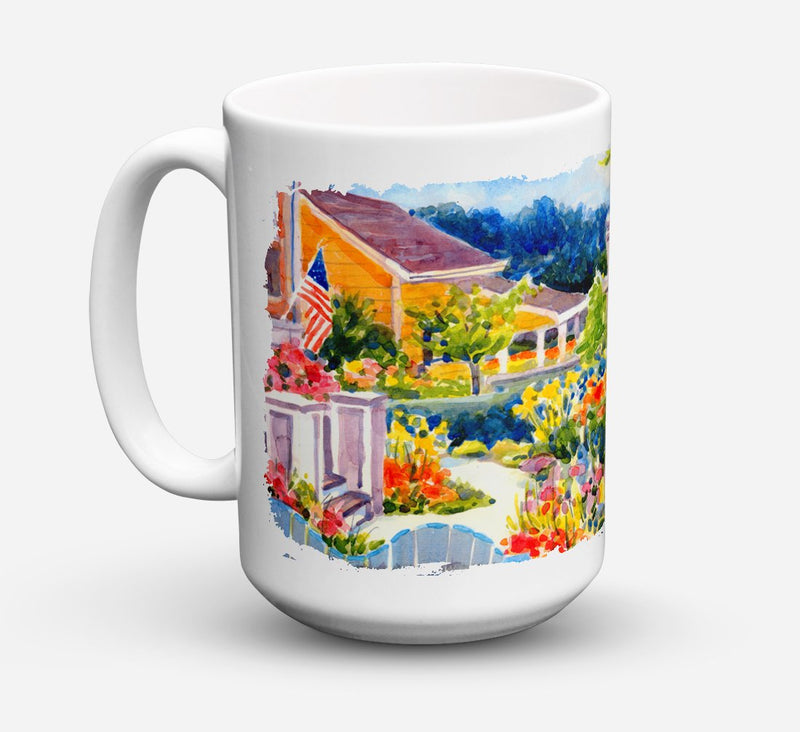Buy this Seaside Beach Cottage Dishwasher Safe Microwavable Ceramic Coffee Mug 15 ounce 6032CM15