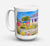 Buy this Seaside Beach Cottage Dishwasher Safe Microwavable Ceramic Coffee Mug 15 ounce 6034CM15