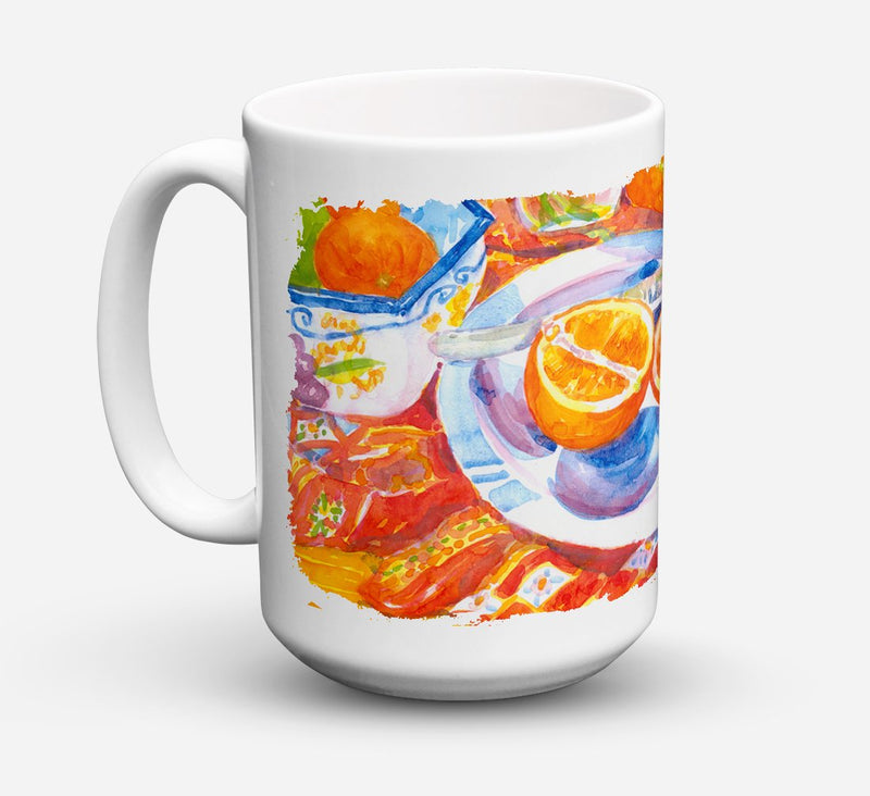 Buy this Florida Oranges Sliced for breakfast Dishwasher Safe Microwavable Ceramic Coffee Mug 15 ounce 6035CM15