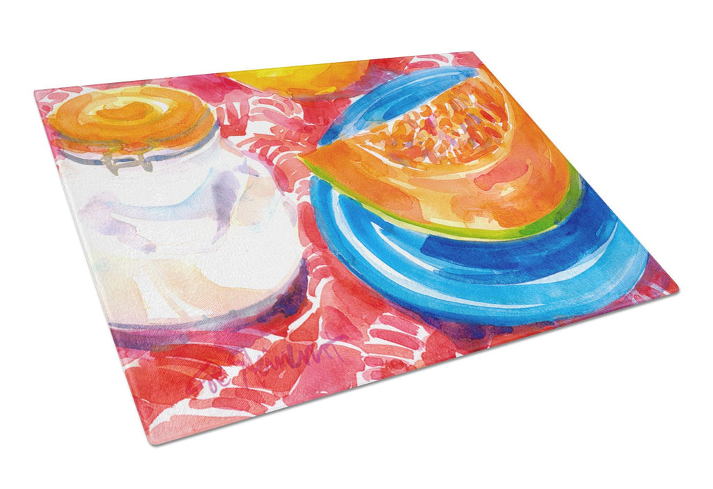 Buy this A Slice of Cantelope  Glass Cutting Board Large