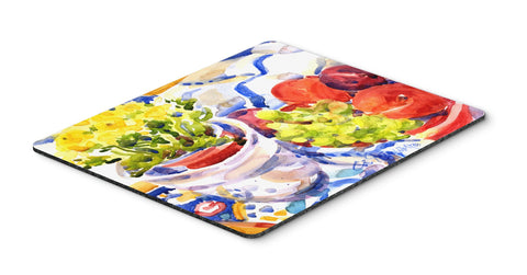 Buy this Apples, Plums and Grapes with Flowers  Mouse pad, hot pad, or trivet