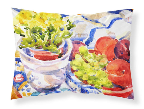 Buy this Apples Plums Grapes with Flowers Moisture wicking Fabric standard pillowcase