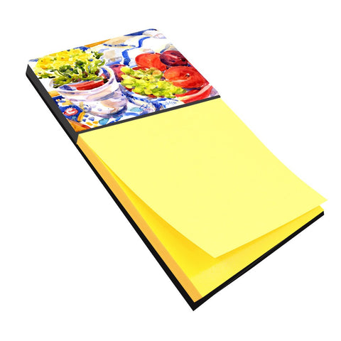 Buy this Apples, Plums and Grapes with Flowers Refiillable Sticky Note Holder or Postit Note Dispenser 6037SN
