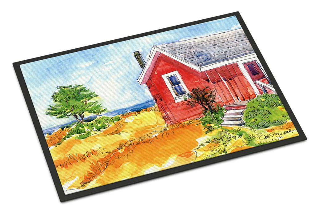 Buy this Old Red Cottage House at the lake or Beach Indoor or Outdoor Mat 18x27 Doormat