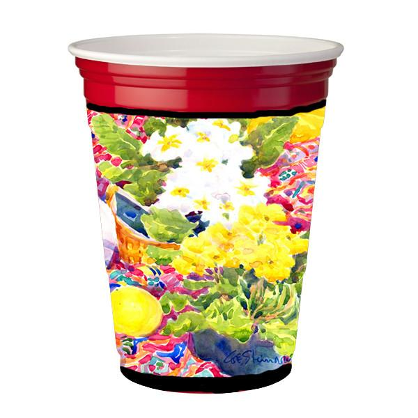 Buy this Flower - Primroses Red Solo Cup Beverage Insulator Hugger