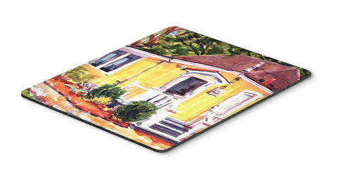 Buy this Yellow Cottage Houses Mouse Pad, Hot Pad or Trivet