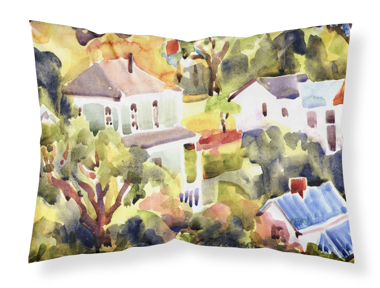Houses Moisture wicking Fabric standard pillowcase by Caroline's Treasures