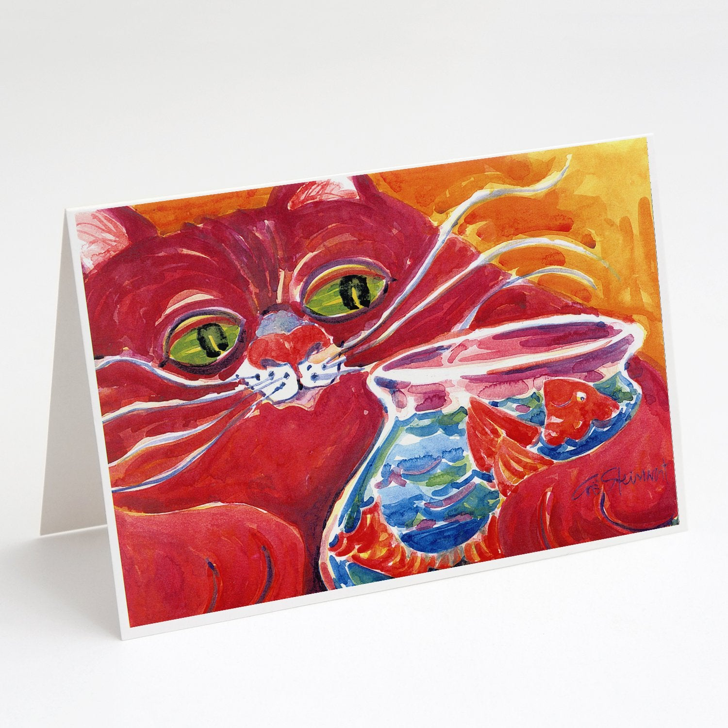 Buy this Big Red Cat at the fishbowl Greeting Cards and Envelopes Pack of 8