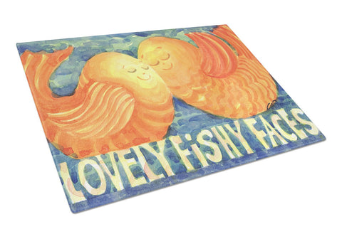 Buy this Fish - Kissing Fish Glass Cutting Board Large