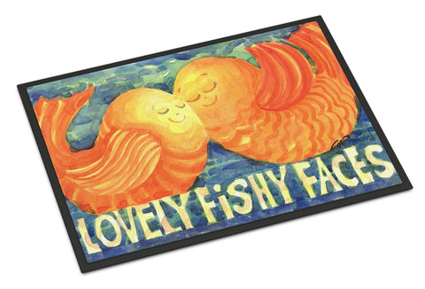 Buy this Fish - Kissing Fish Indoor or Outdoor Mat 18x27 Doormat