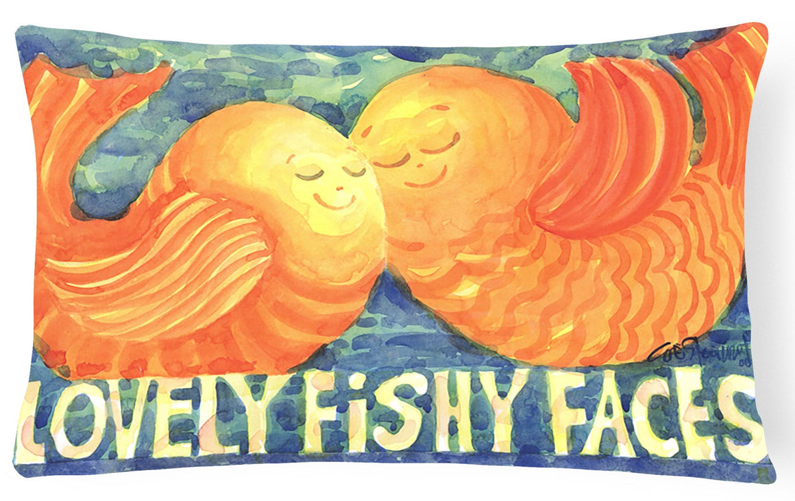 Buy this Fish - Kissing Fish Decorative   Canvas Fabric Pillow
