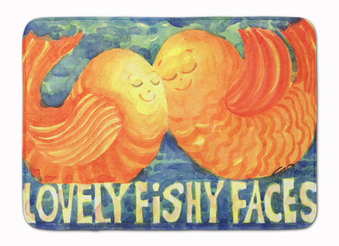 Buy this Fish - Kissing Fish Machine Washable Memory Foam Mat 6052RUG