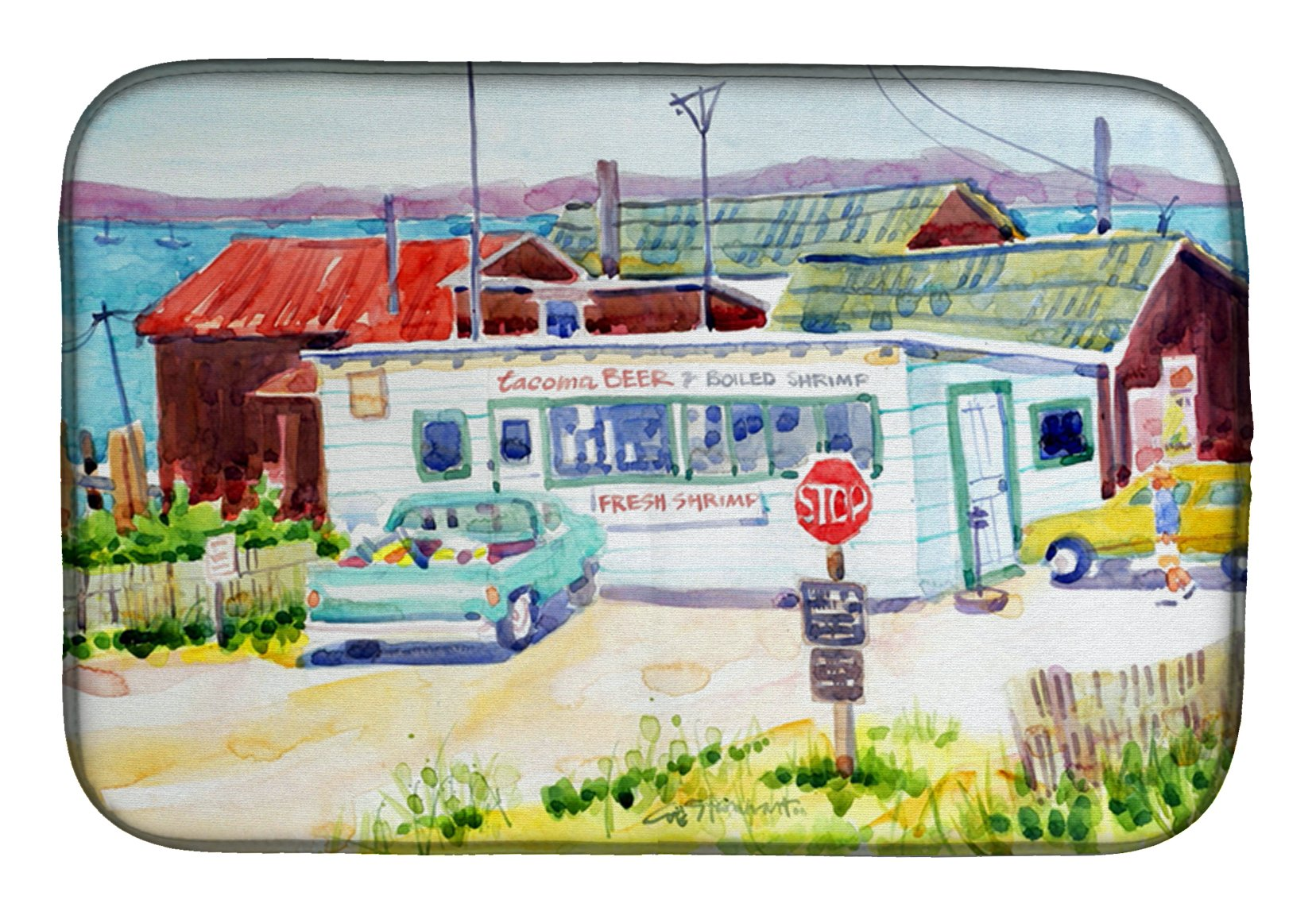 Buy this Seafood Shack for fresh shrimp Dish Drying Mat 6054DDM