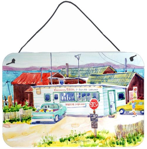 Seafood Shack for fresh shrimp Indoor Wall or Door Hanging Prints by Caroline's Treasures