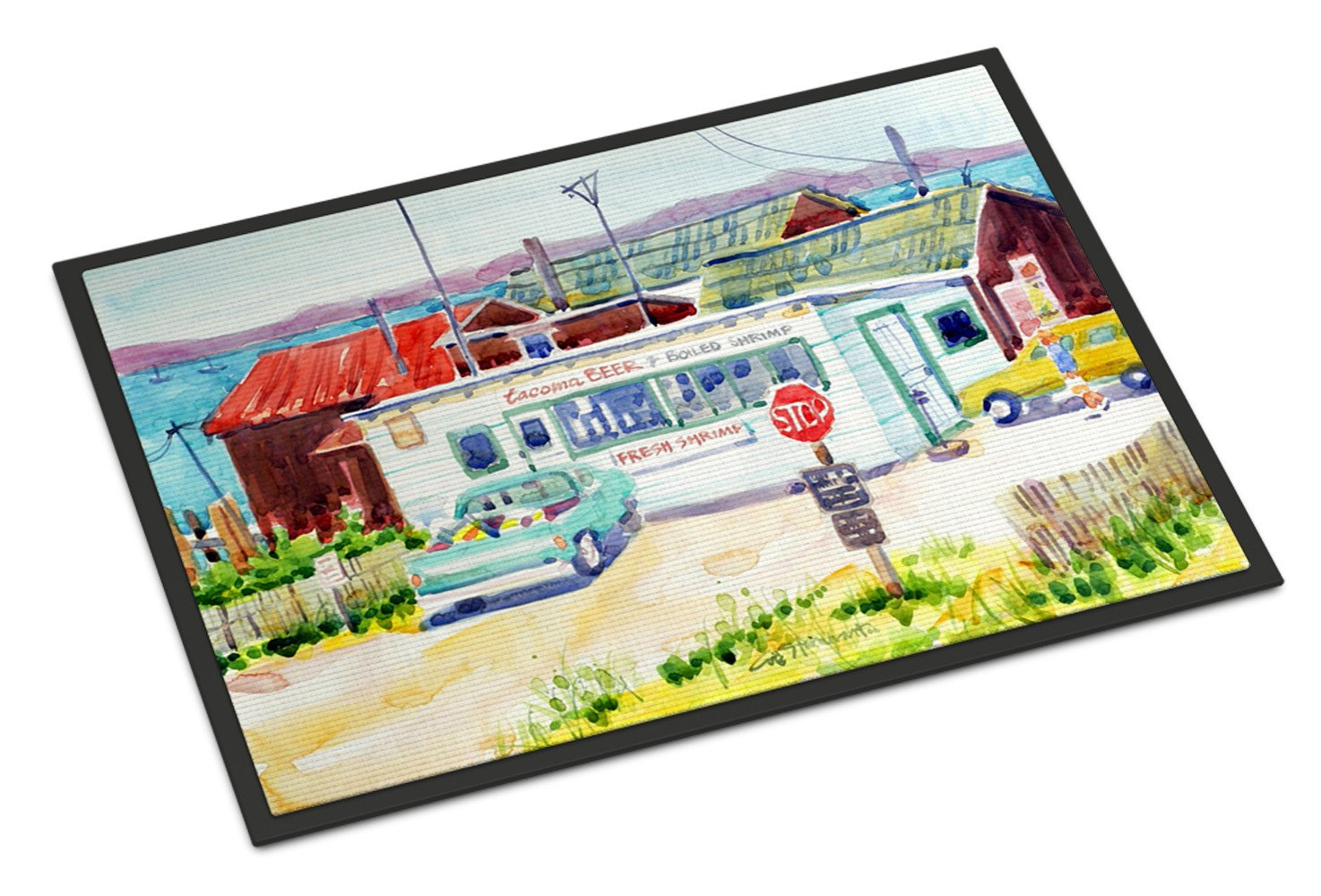 Seafood Shack for fresh shrimp Indoor or Outdoor Mat 18x27 Doormat - the-store.com