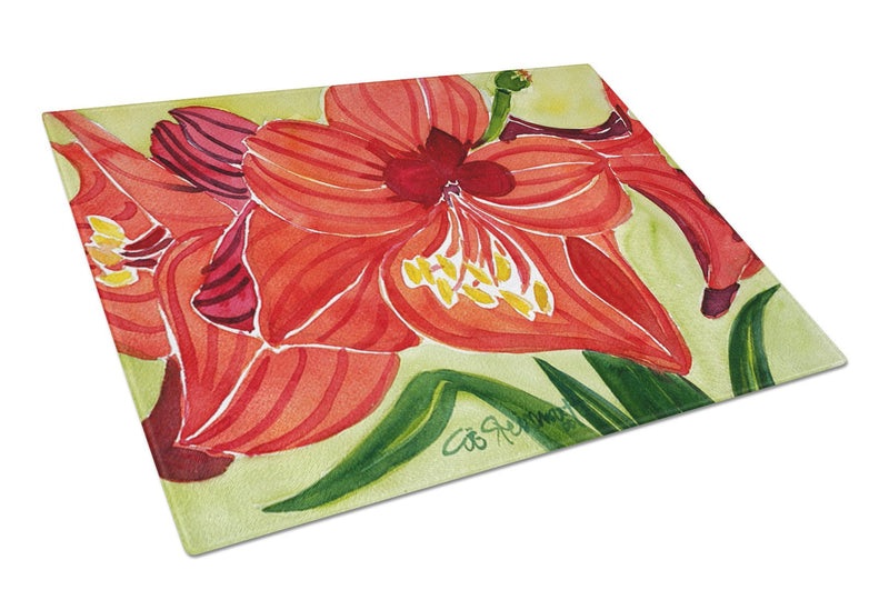 Buy this Flower - Amaryllis Glass Cutting Board Large