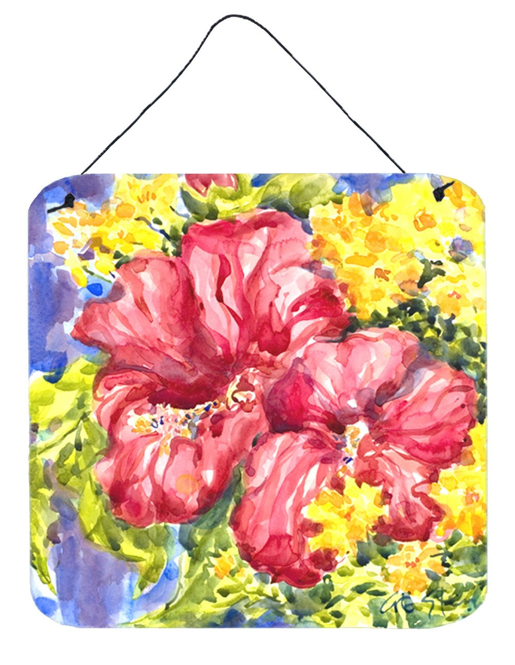 Buy this Flower - Hibiscus Aluminium Metal Wall or Door Hanging Prints