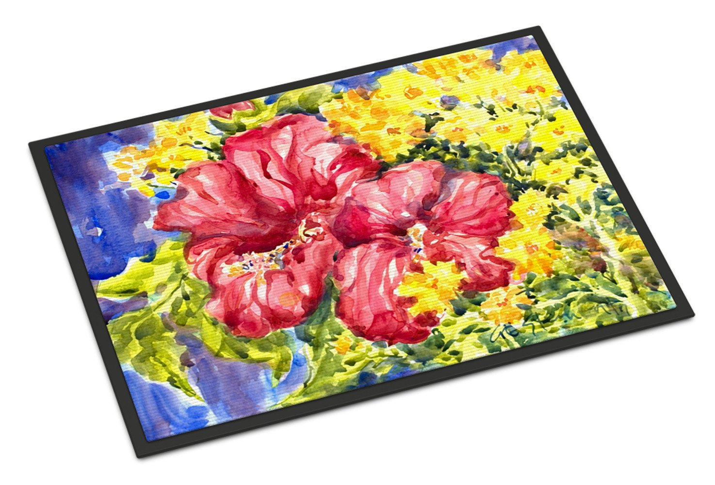 Flower - Hibiscus Indoor or Outdoor Mat 18x27 Doormat by Caroline's Treasures