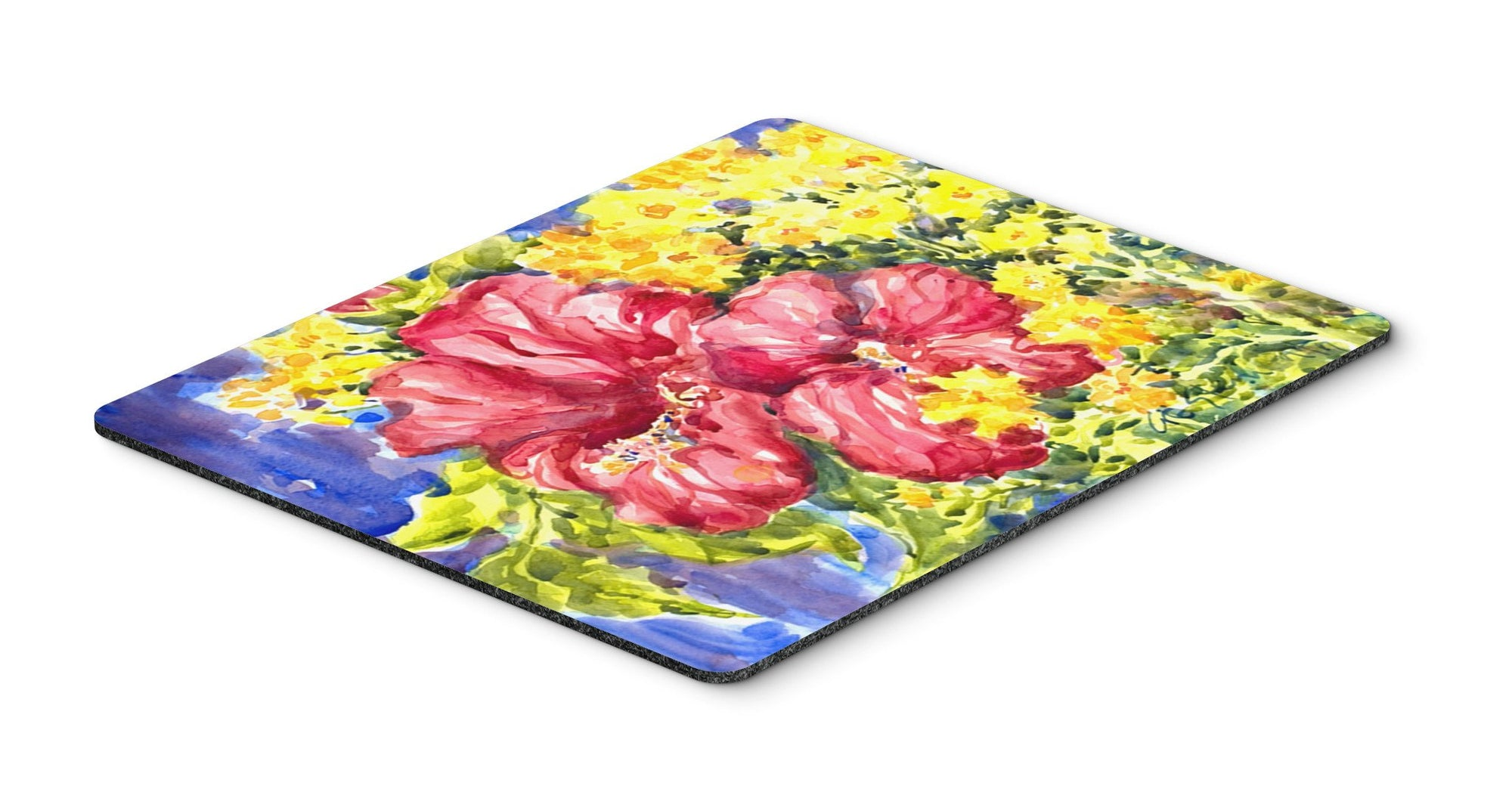 Flower - Hibiscus Mouse pad, hot pad, or trivet by Caroline's Treasures