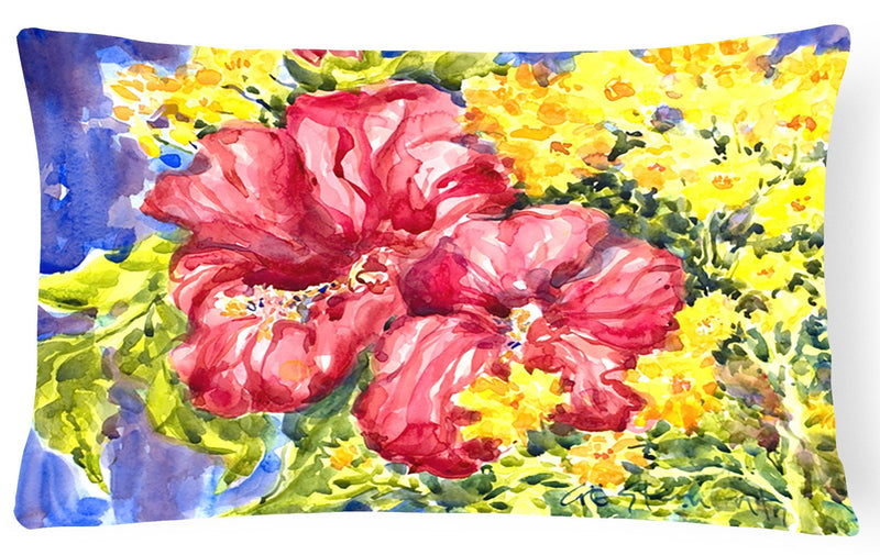 Buy this Flower - Hibiscus Decorative   Canvas Fabric Pillow