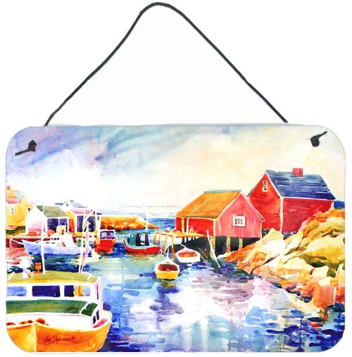 Buy this Boats at Harbour with a view Indoor Aluminium Metal Wall or Door Hanging Prints