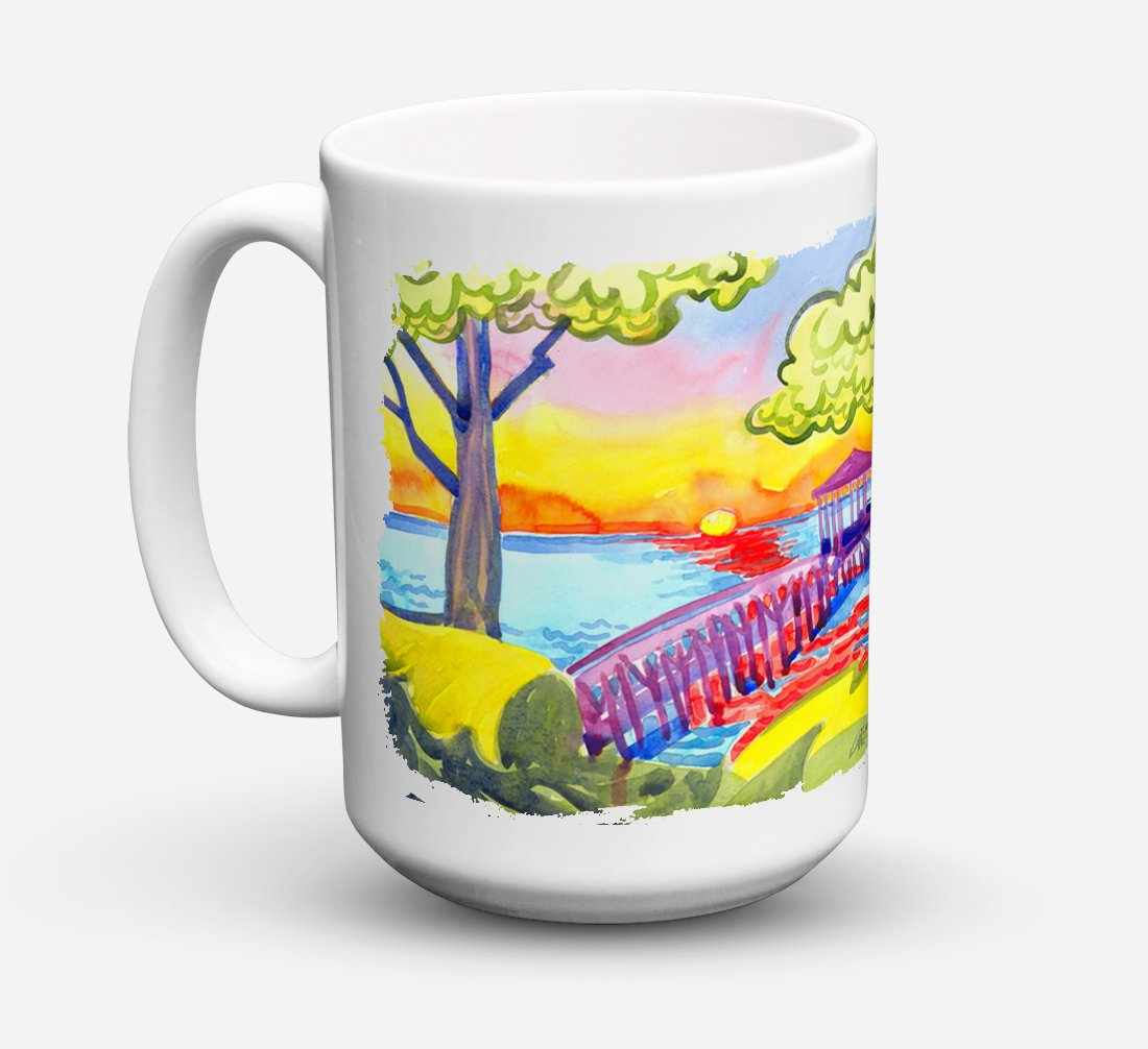 Buy this Dock at the pier Dishwasher Safe Microwavable Ceramic Coffee Mug 15 ounce 6060CM15
