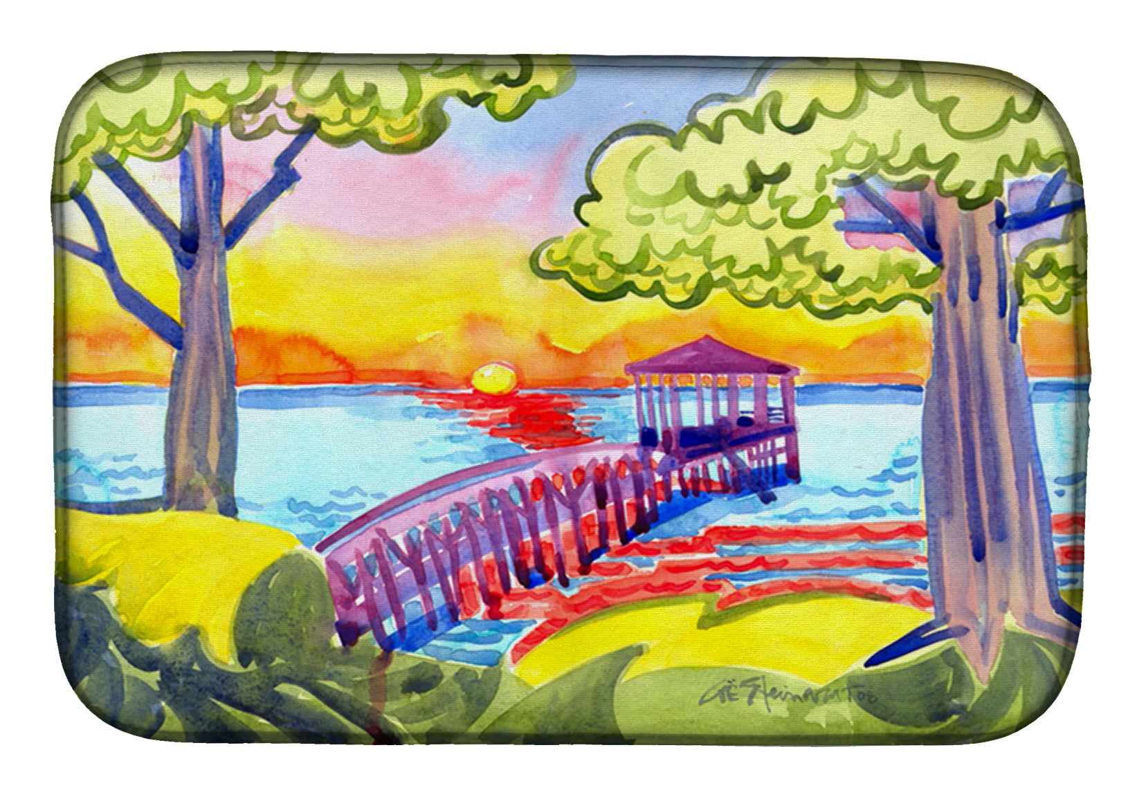 Buy this Dock at the pier Dish Drying Mat 6060DDM