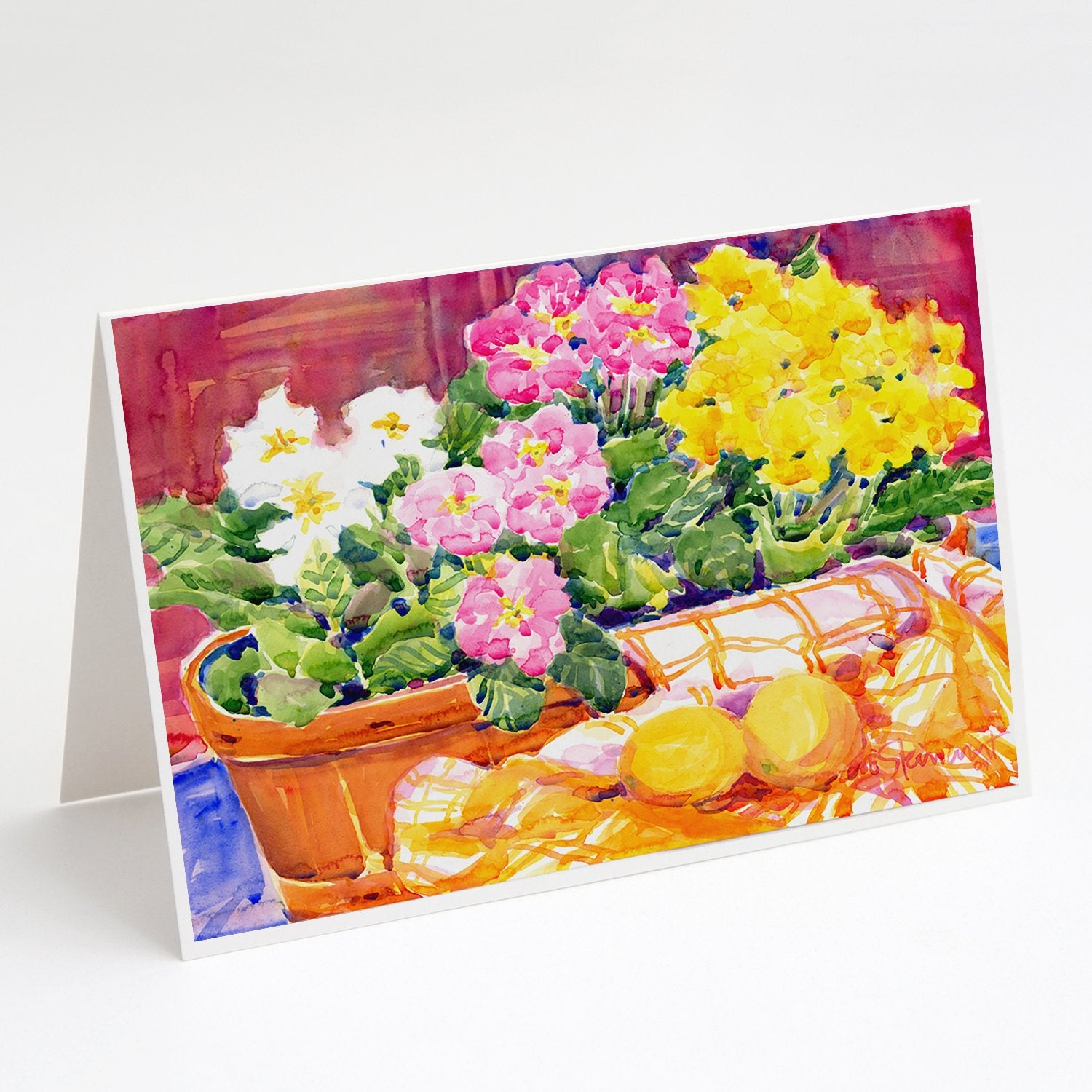 Buy this Flower - Primroses Greeting Cards and Envelopes Pack of 8