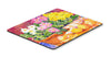 Flower - Primroses Mouse pad, hot pad, or trivet by Caroline's Treasures