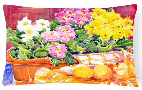 Buy this Flower - Primroses Decorative   Canvas Fabric Pillow