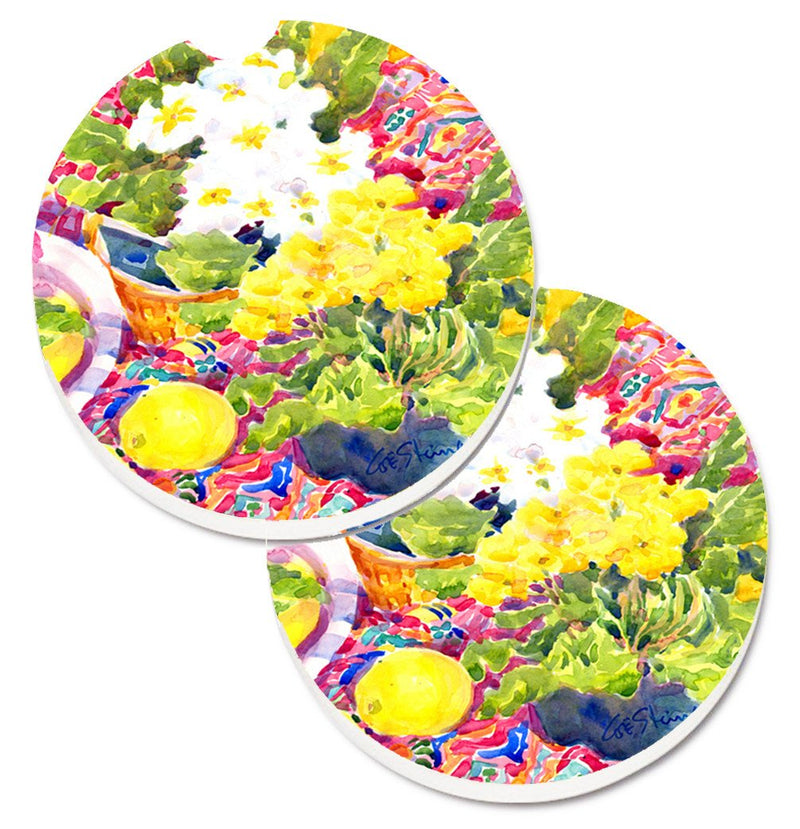 Buy this Flower - Primroses Set of 2 Cup Holder Car Coasters 6062CARC