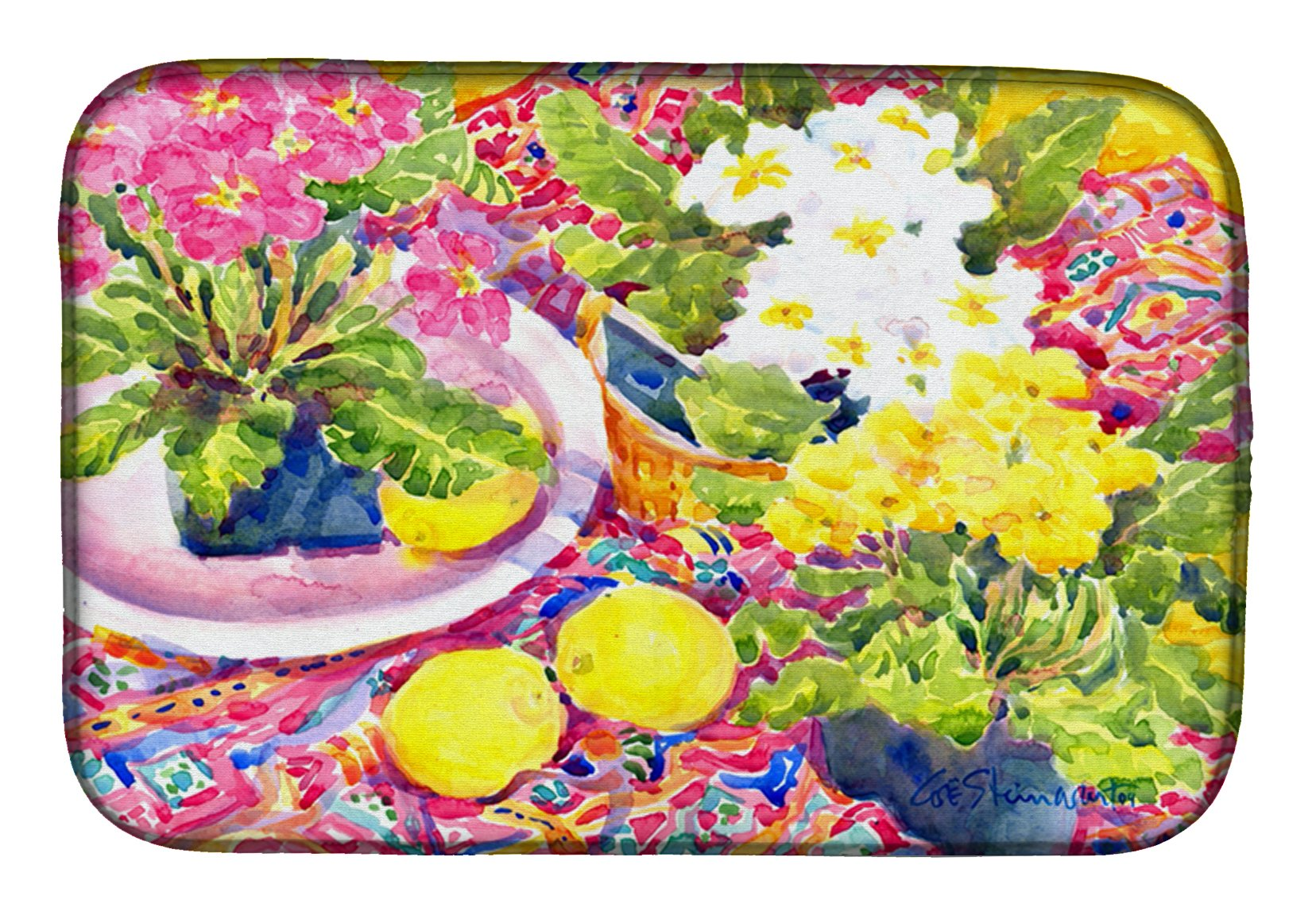 Flower - Primroses Dish Drying Mat 6062DDM by Caroline's Treasures