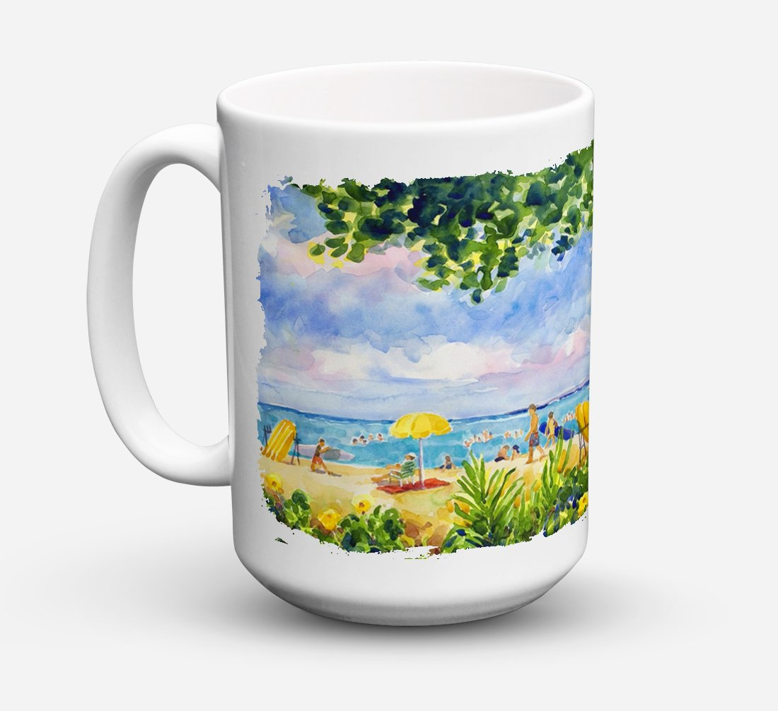 Buy this Beach Resort view from the condo Dishwasher Safe Microwavable Ceramic Coffee Mug 15 ounce 6065CM15