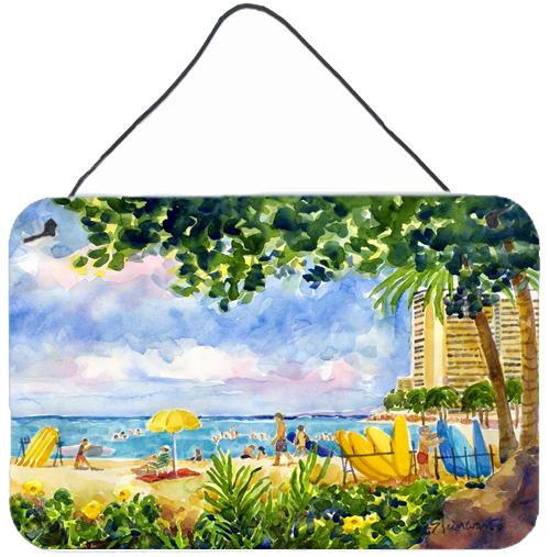 Buy this Beach Resort view from the condo  Indoor Wall or Door Hanging Prints