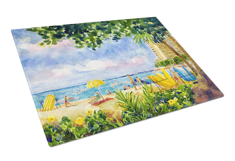Buy this Beach Resort view from the condo  Glass Cutting Board Large