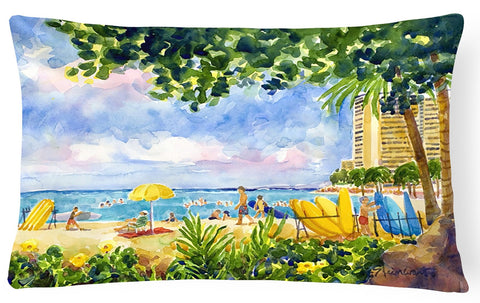 Buy this Beach Resort view from the condo  Decorative   Canvas Fabric Pillow