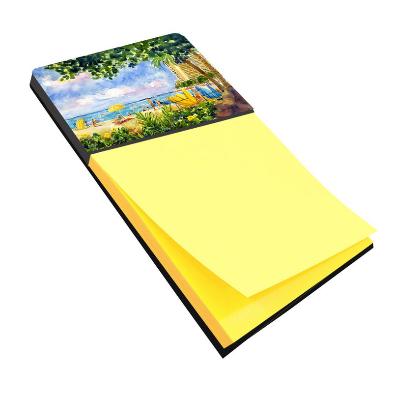 Buy this Beach Resort view from the condo Refiillable Sticky Note Holder or Postit Note Dispenser 6065SN