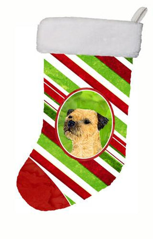 Buy this Border Terrier Candy Cane Holiday Christmas Christmas Stocking LH9233