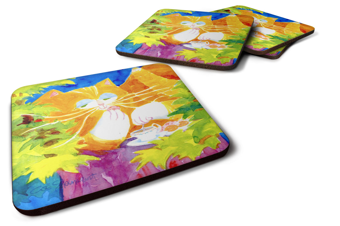 Buy this Set of 4 Cat Tea Time Foam Coasters
