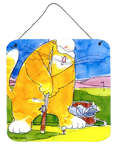 Buy this Big Cat golfing with a fishing pole  Wall or Door Hanging Prints
