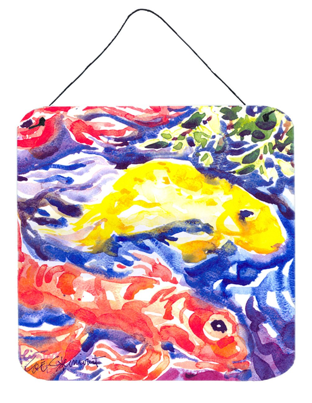Buy this Fish - Koi in the pond Aluminium Metal Wall or Door Hanging Prints