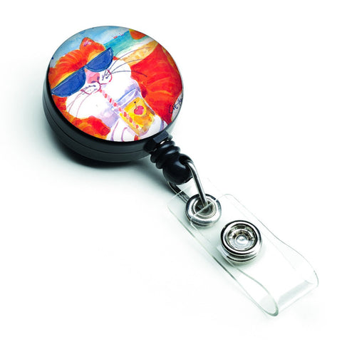 Buy this Cool Cat with Sunglasses at the beach Retractable Badge Reel 6118BR
