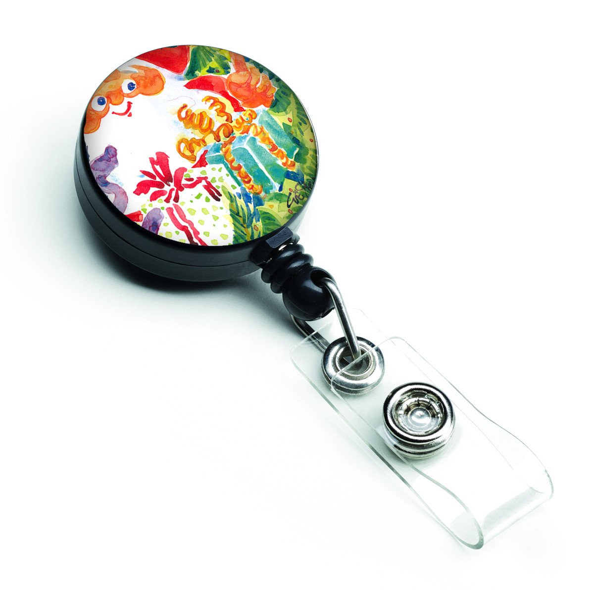 Christmas Santa Claus You Better Watch out Retractable Badge Reel 6121BR by Caroline's Treasures