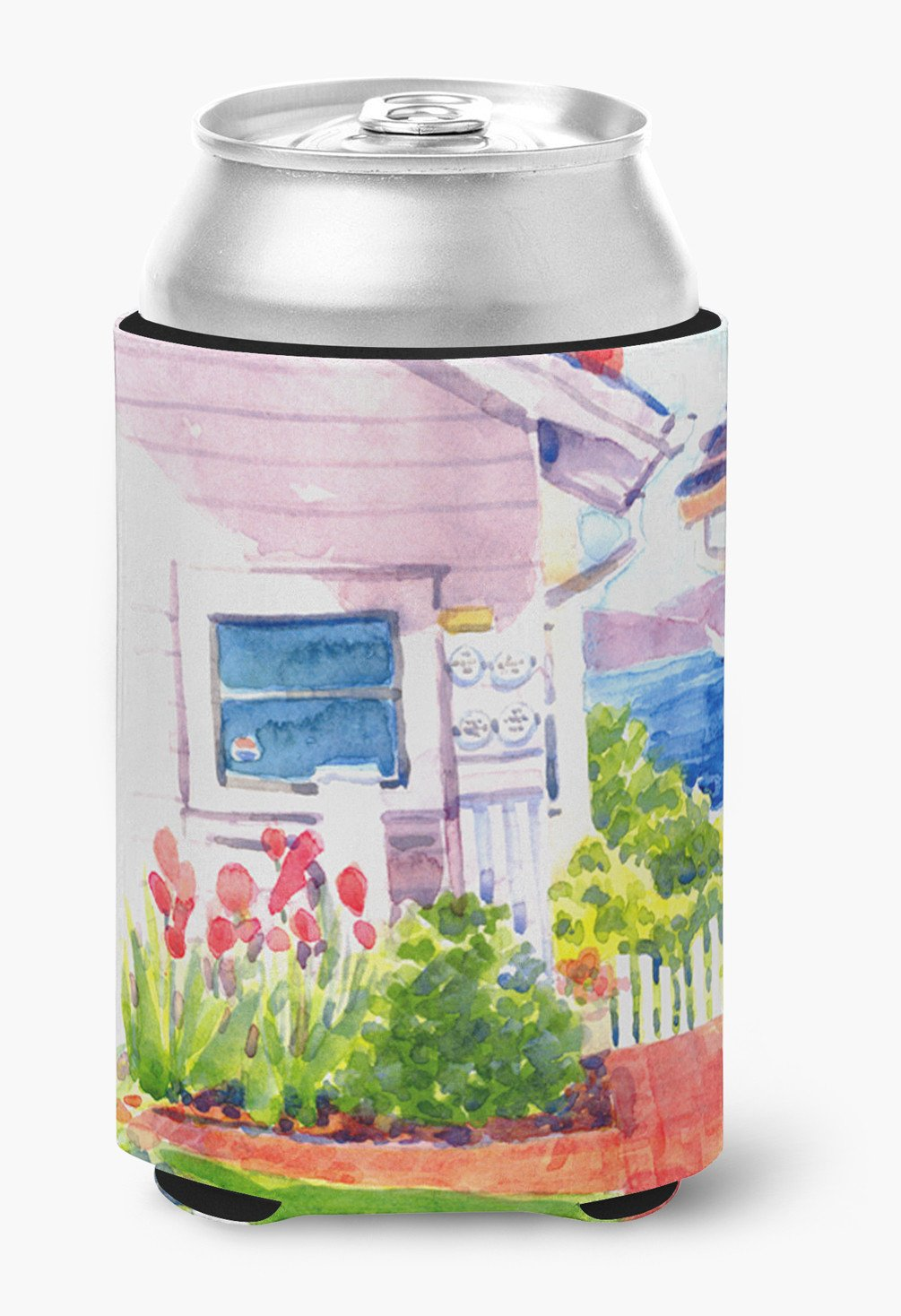 Buy this Beach View between the Houses Can or Bottle Beverage Insulator Hugger