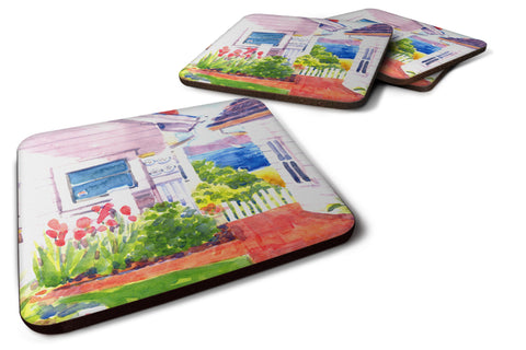 Buy this Set of 4 Beach View between the Houses Foam Coasters