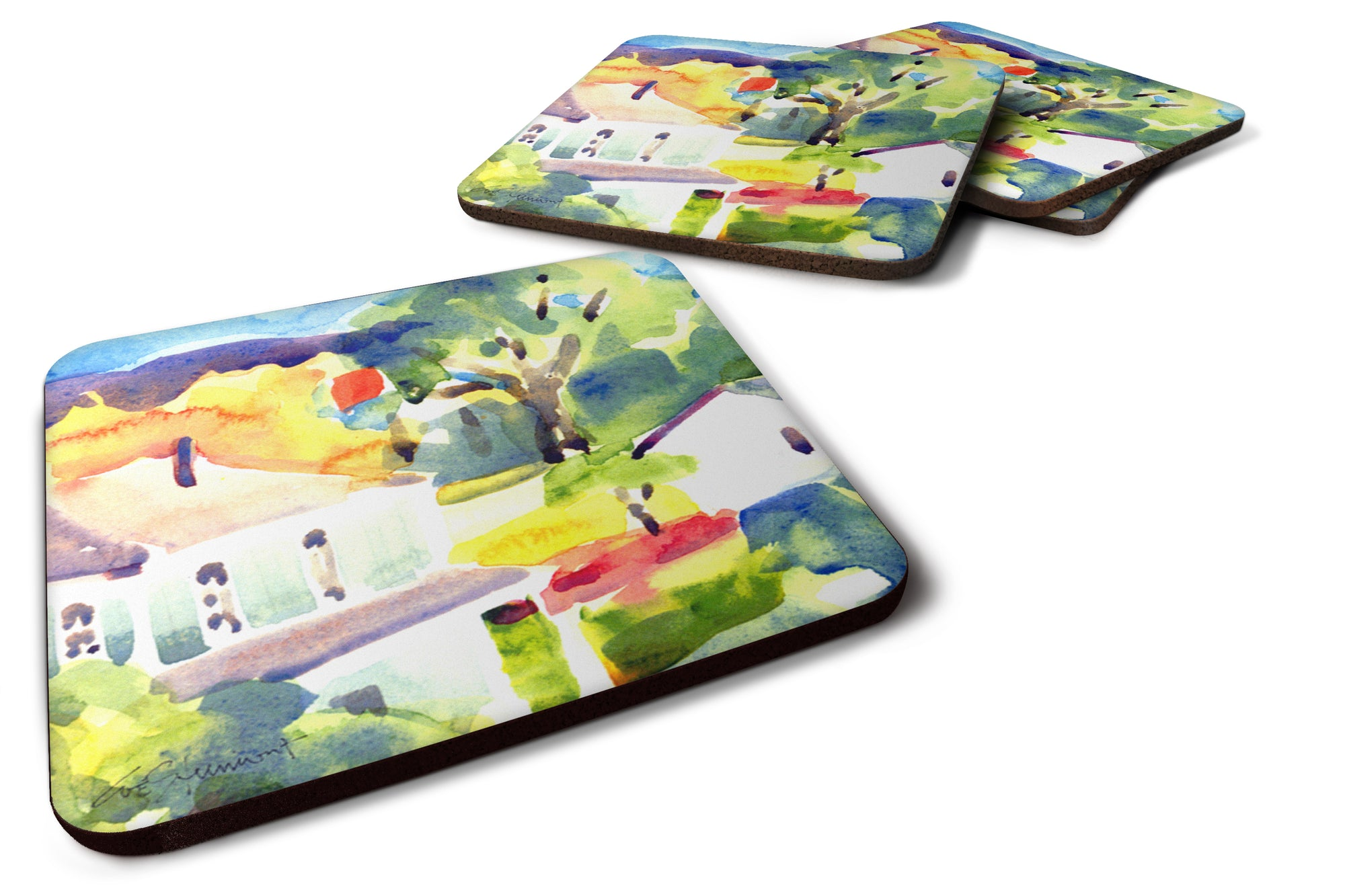 Buy this Set of 4 Houses Foam Coasters