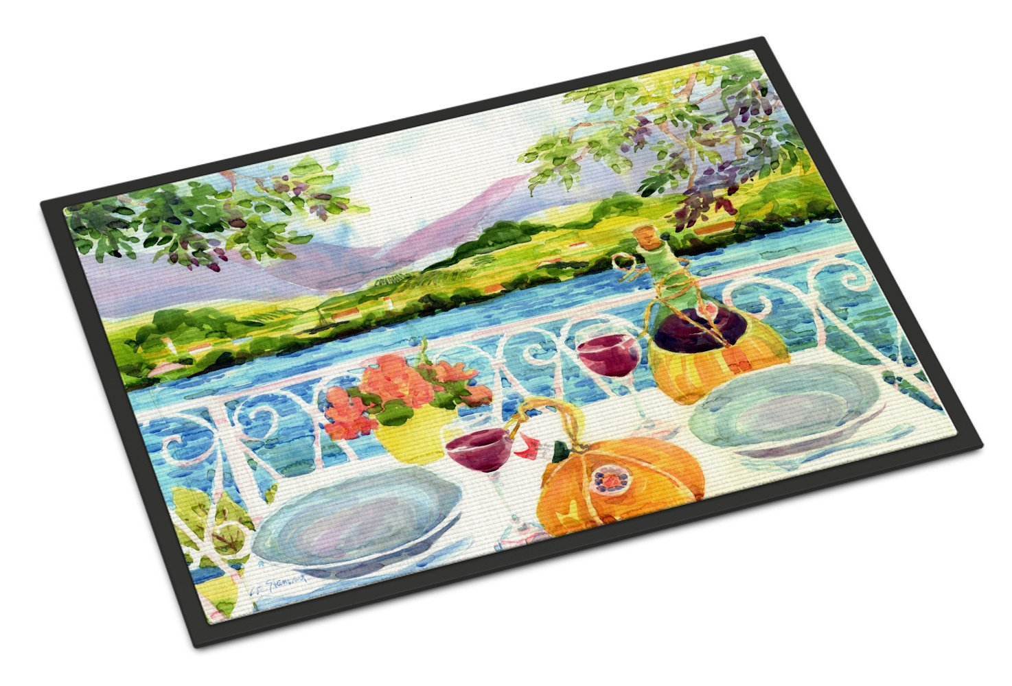 Carolines Treasures Afternoon of Grape Delights Wine Fabric Standard Pillowcase 6139PILLOWCASE Multicolor