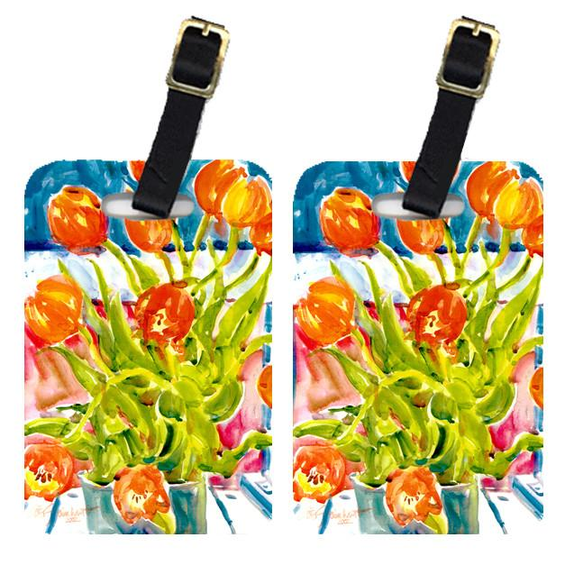 Buy this Pair of 2 Flowers - Tulips Luggage Tags