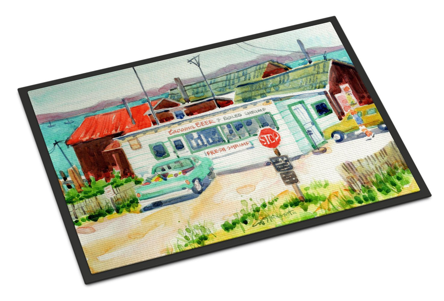 Tacoma Beer and Boiled Shrimp Market Indoor or Outdoor Mat 18x27 6141MAT - the-store.com