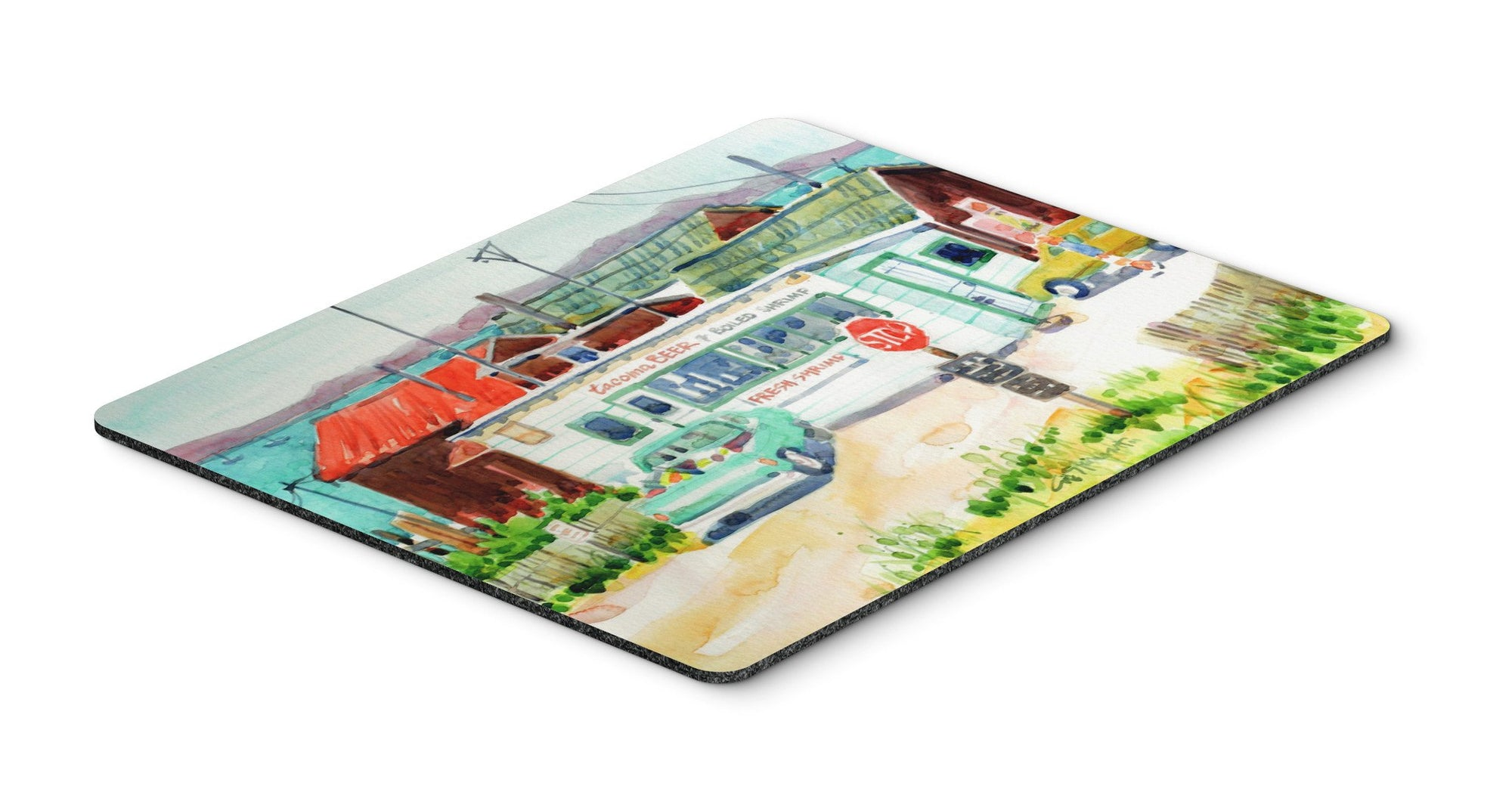 Tacoma Beer and Boiled Shrimp Market Mouse Pad, Hot Pad or Trivet 6141MP by Caroline's Treasures
